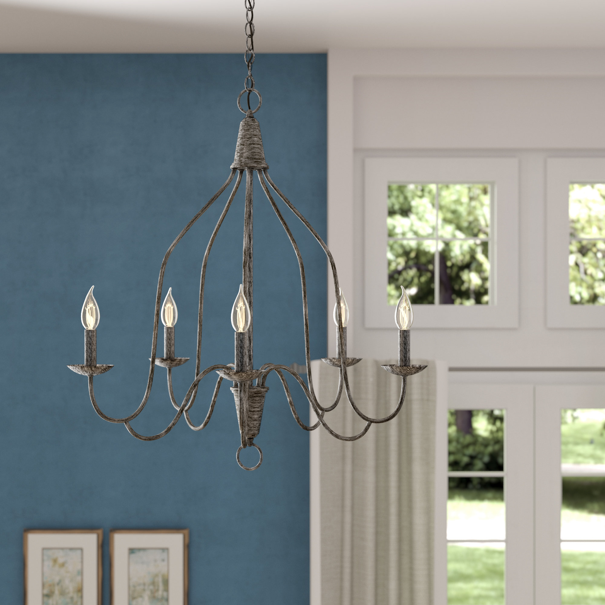 Most Recently Released Geeta 5 Light Candle Style Chandelier Inside Berger 5 Light Candle Style Chandeliers (View 11 of 20)
