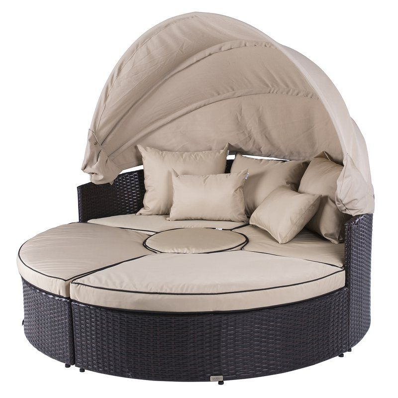 Most Recently Released Gilbreath Daybeds With Cushions Regarding 5 Piece Outdoor Daybed Set With Cushions & Reviews (View 12 of 20)