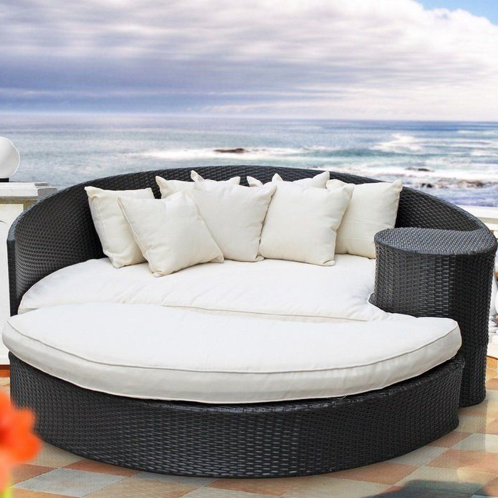 Most Recently Released Greening Outdoor Daybed With Ottoman & Cushions In 2019 Within Greening Outdoor Daybeds With Ottoman & Cushions (View 6 of 20)