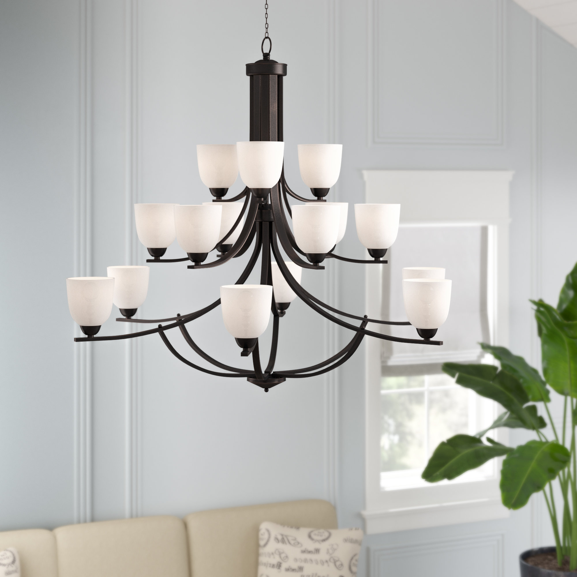 Most Recently Released Hayden 5 Light Shaded Chandeliers With Hayden 15 Light Shaded Chandelier (View 6 of 20)