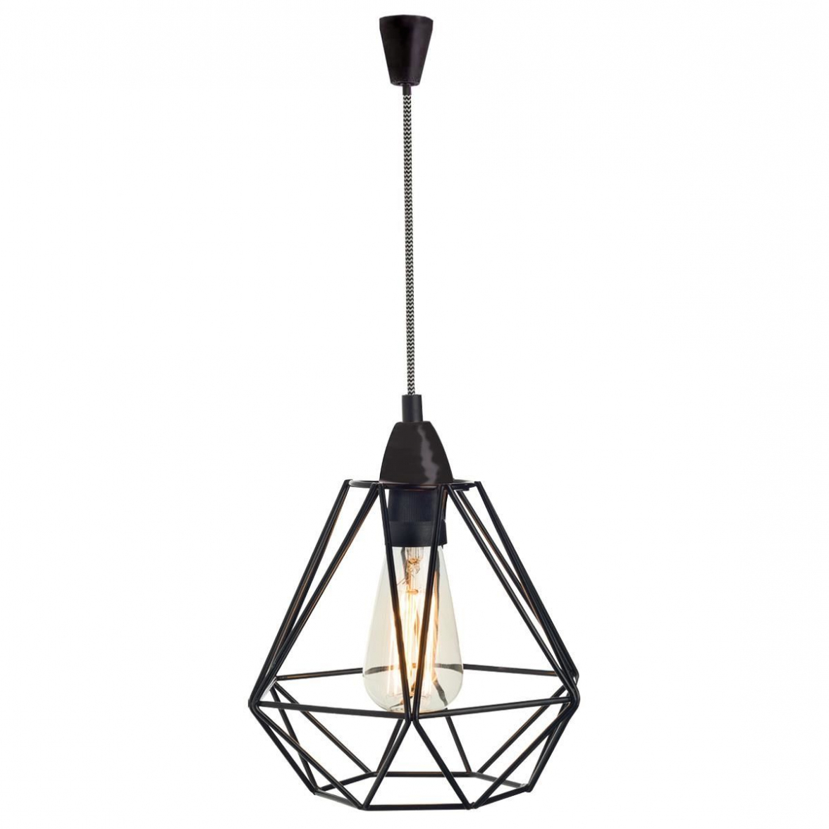 Most Recently Released Isoline 2 Light Lantern Geometric Pendants Pertaining To Kmart Pendant Light (Gallery 15 of 20)