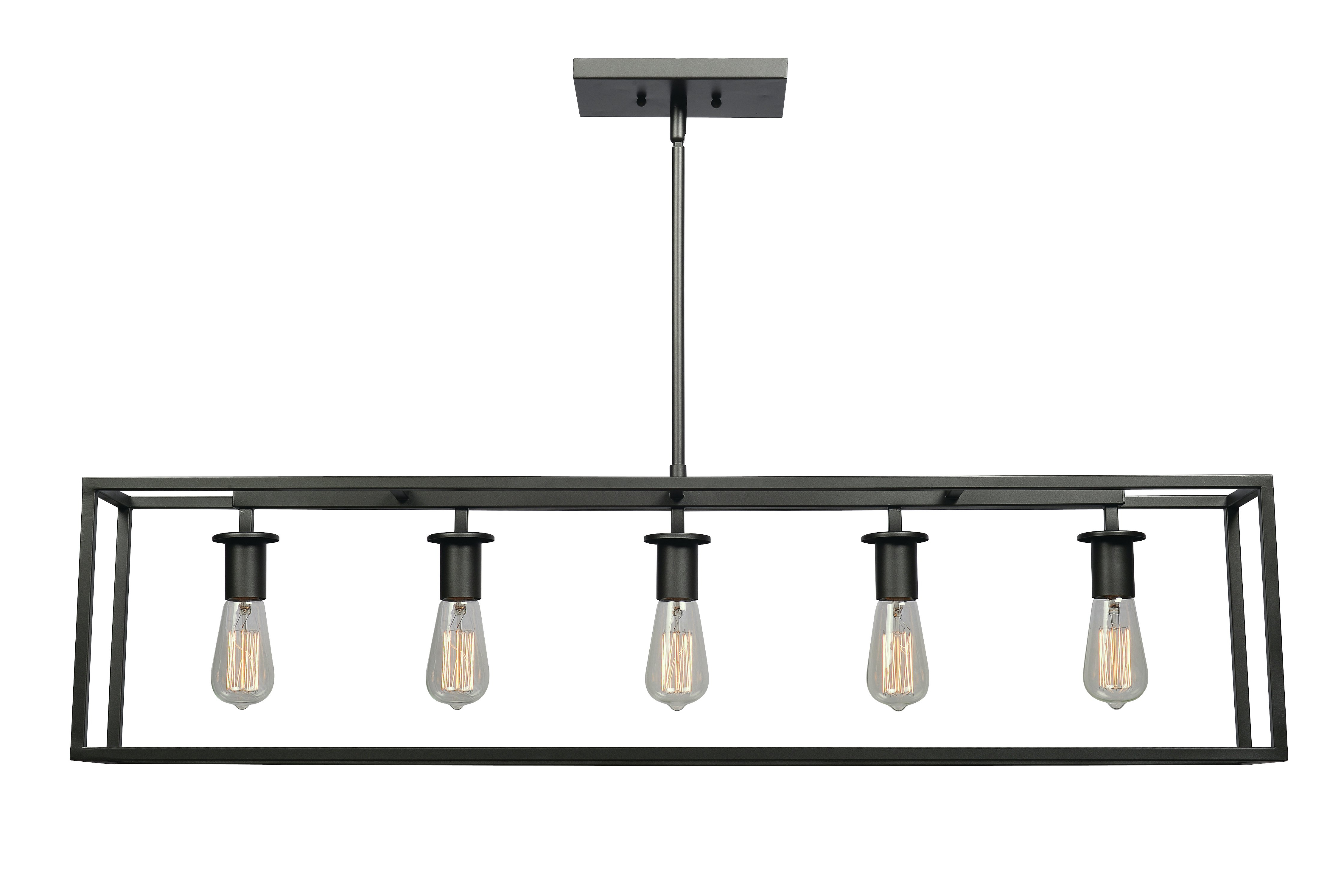 Most Recently Released Jefferson 4 Light Kitchen Island Linear Pendants Intended For Raeann 5 Light Kitchen Island Linear Pendant (Gallery 14 of 20)