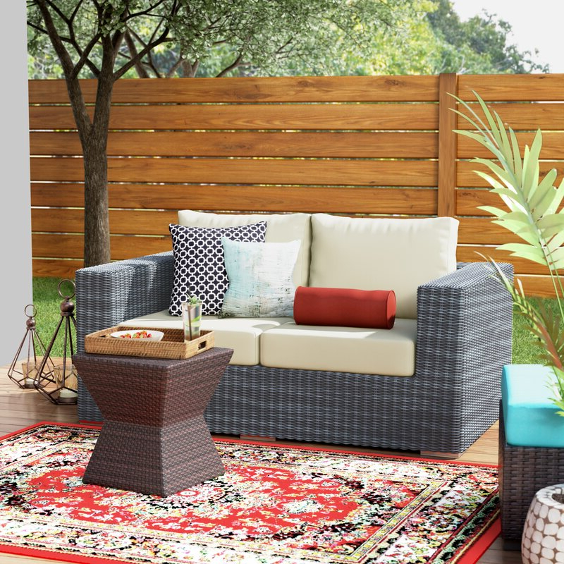 Most Recently Released Keiran Loveseat With Cushions With Regard To Keiran Patio Sofas With Cushions (View 14 of 20)