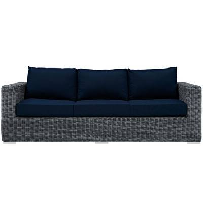 Most Recently Released Keiran Patio Sofas With Cushions For Keiran Double Chaise Lounge With Cushion (View 15 of 20)
