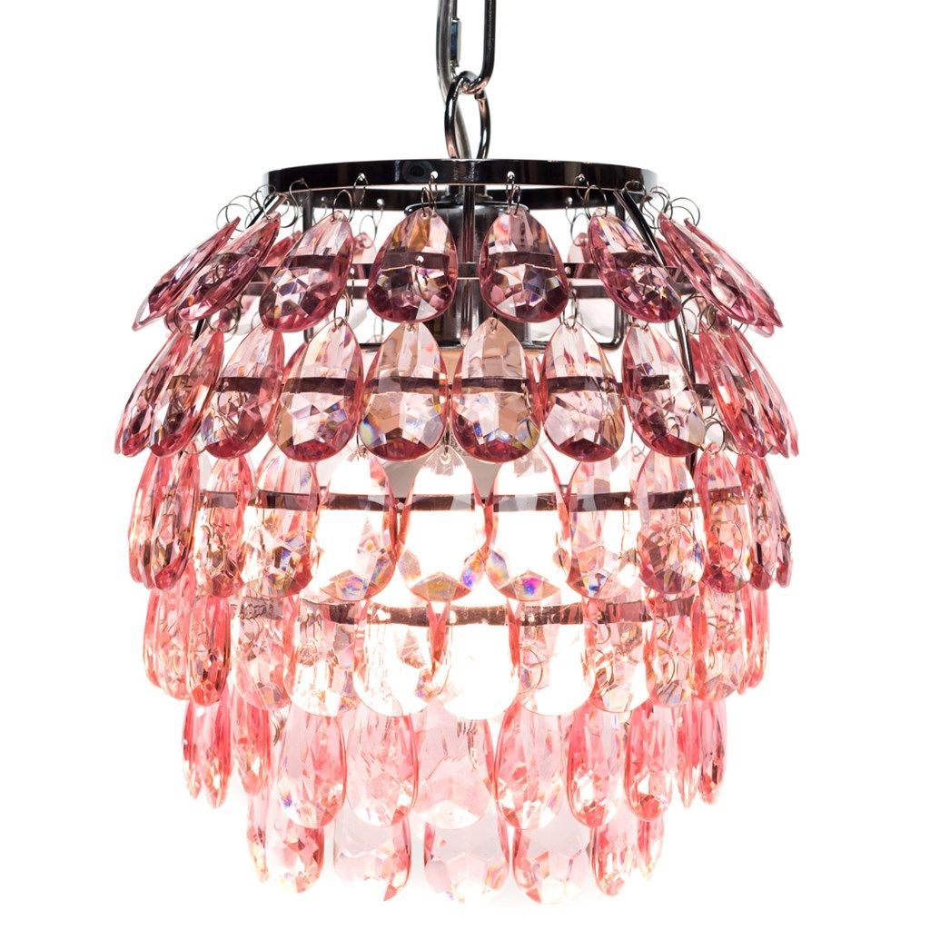 Most Recently Released Kraker 1 Light Single Cylinder Pendants Intended For Shop.crackerbarrel: Acrylic Jeweled Pendant Light (Gallery 16 of 20)