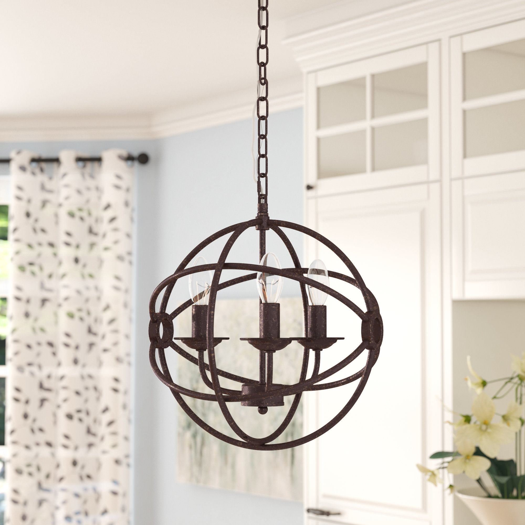 Most Recently Released La Barge 3 Light Globe Chandeliers With Shipststour 3 Light Globe Chandelier (View 18 of 20)