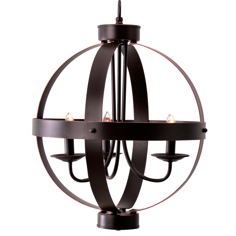 Most Recently Released La Sarre 3 Light Globe Chandelier Regarding La Sarre 3 Light Globe Chandeliers (View 2 of 20)