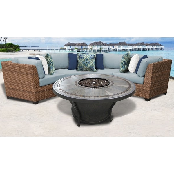 Most Recently Released Laguna Outdoor Sofas With Cushions With Laguna 4 Piece Outdoor Wicker Patio Furniture Set 04H (Gallery 10 of 20)