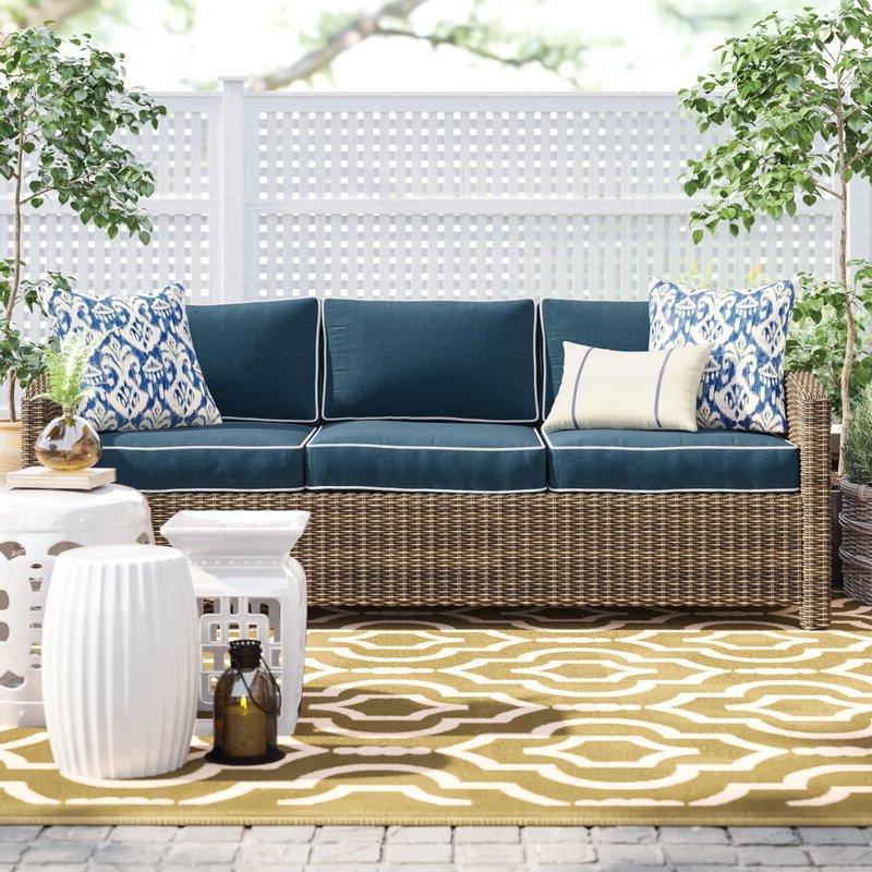Most Recently Released Lakeland Teak Patio Sofas With Cushions Within Lawson Patio Sofa With Cushions (Gallery 16 of 20)