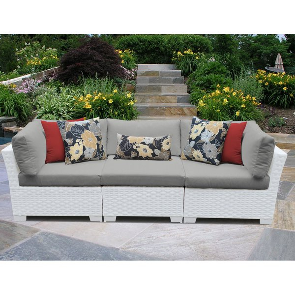 Most Recently Released Monaco Patio Sofa With Cushions In Loggins Patio Sofas With Cushions (Gallery 12 of 21)