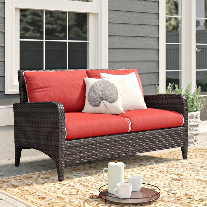 Most Recently Released Mosca Patio Loveseat With Cushions With Mosca Patio Loveseats With Cushions (Gallery 5 of 20)
