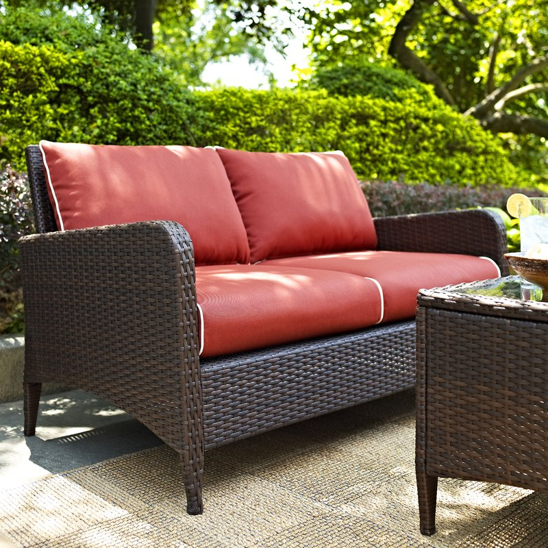 Most Recently Released Mosca Patio Loveseat With Cushions Within Mosca Patio Loveseats With Cushions (Gallery 3 of 20)