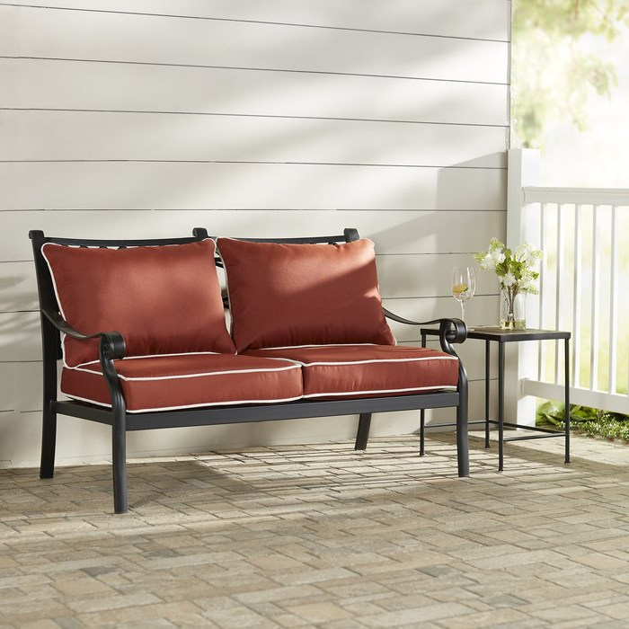 Featured Photo of Nadine Loveseats With Cushions