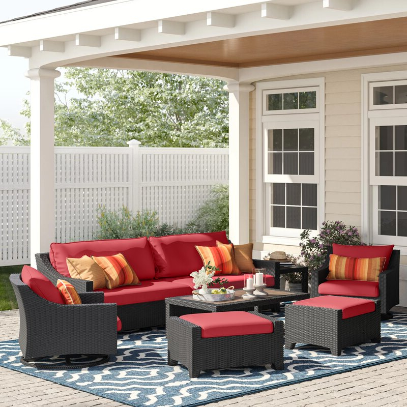 Most Recently Released Northridge Patio Sofas With Sunbrella Cushions Within Northridge 8 Piece Sofa Set With Cushions (View 15 of 20)