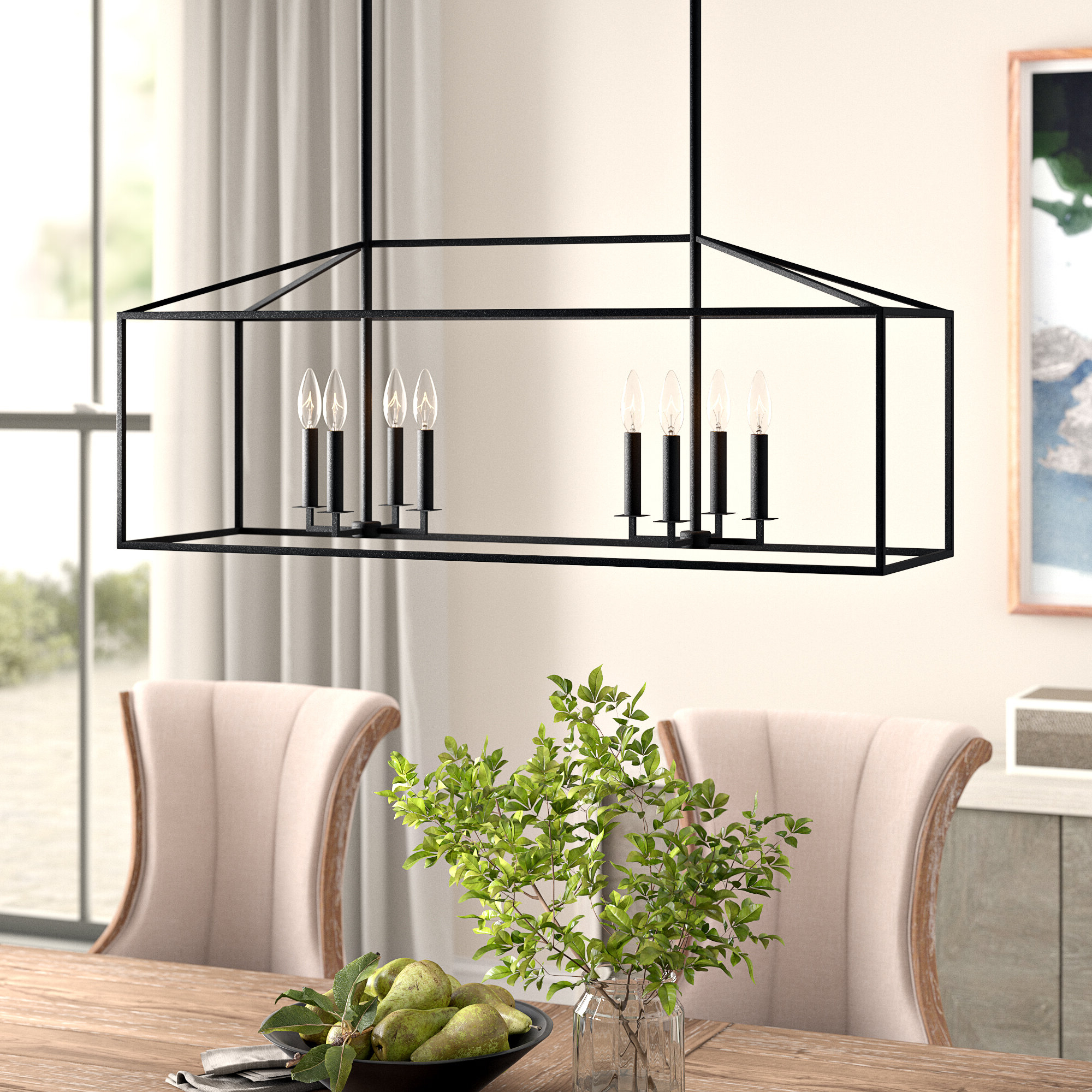 Most Recently Released Odie 8 Light Kitchen Island Square / Rectangle Pendants For Odie 8 Light Kitchen Island Pendant (Gallery 3 of 20)
