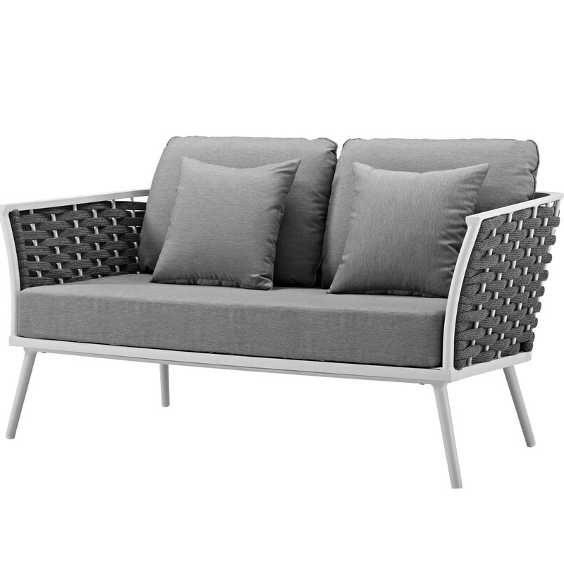 Most Recently Released Rossville Outdoor Loveseat With Cushions Inside Pantano Loveseats With Cushions (View 7 of 20)