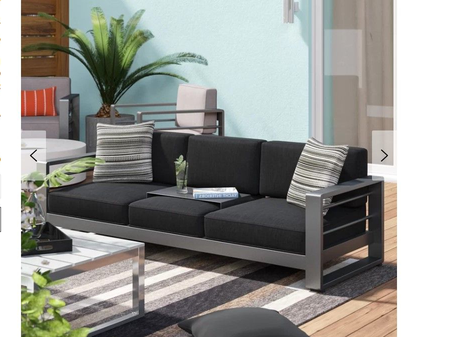 Most Recently Released Royalston Patio Sofa With Cushions (View 9 of 20)