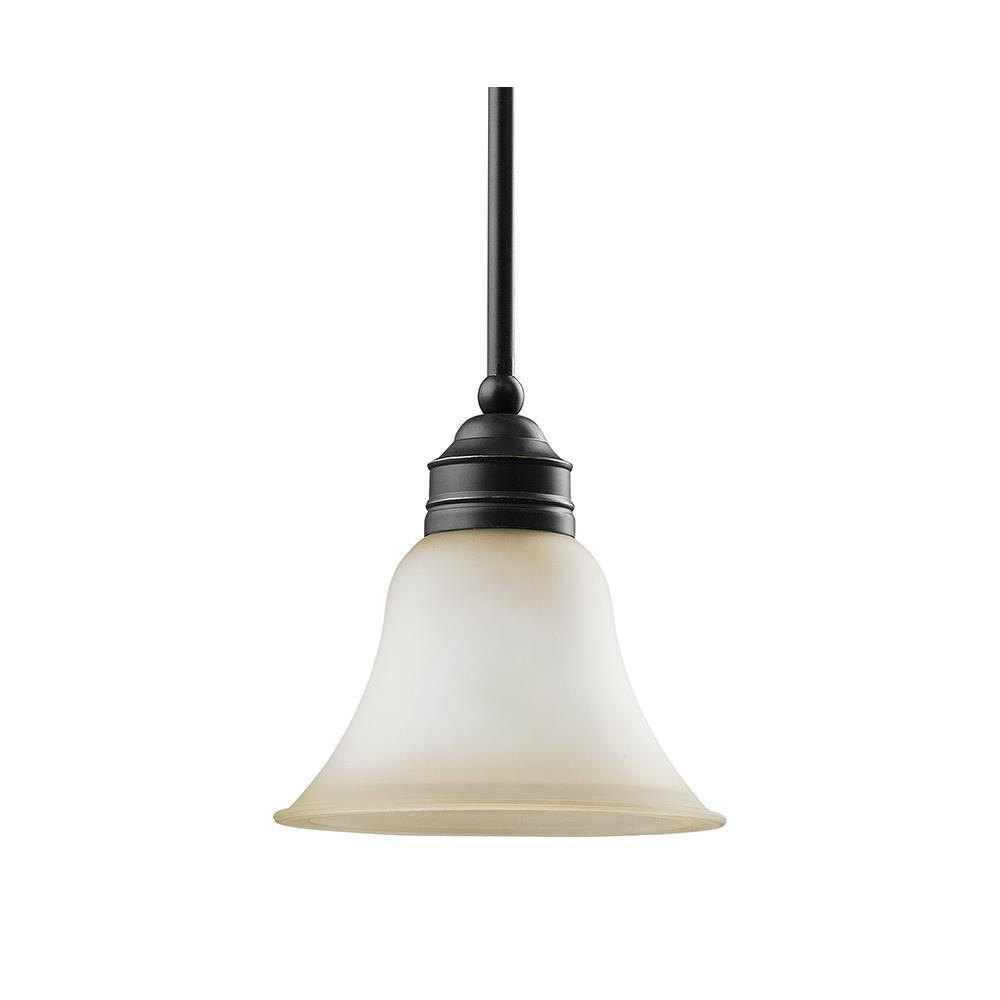 Most Recently Released Sea Gull Lighting 61850 782 1 Light Mini Pendant Heirloom Bronze Finish Inside Kraker 1 Light Single Cylinder Pendants (Gallery 12 of 20)