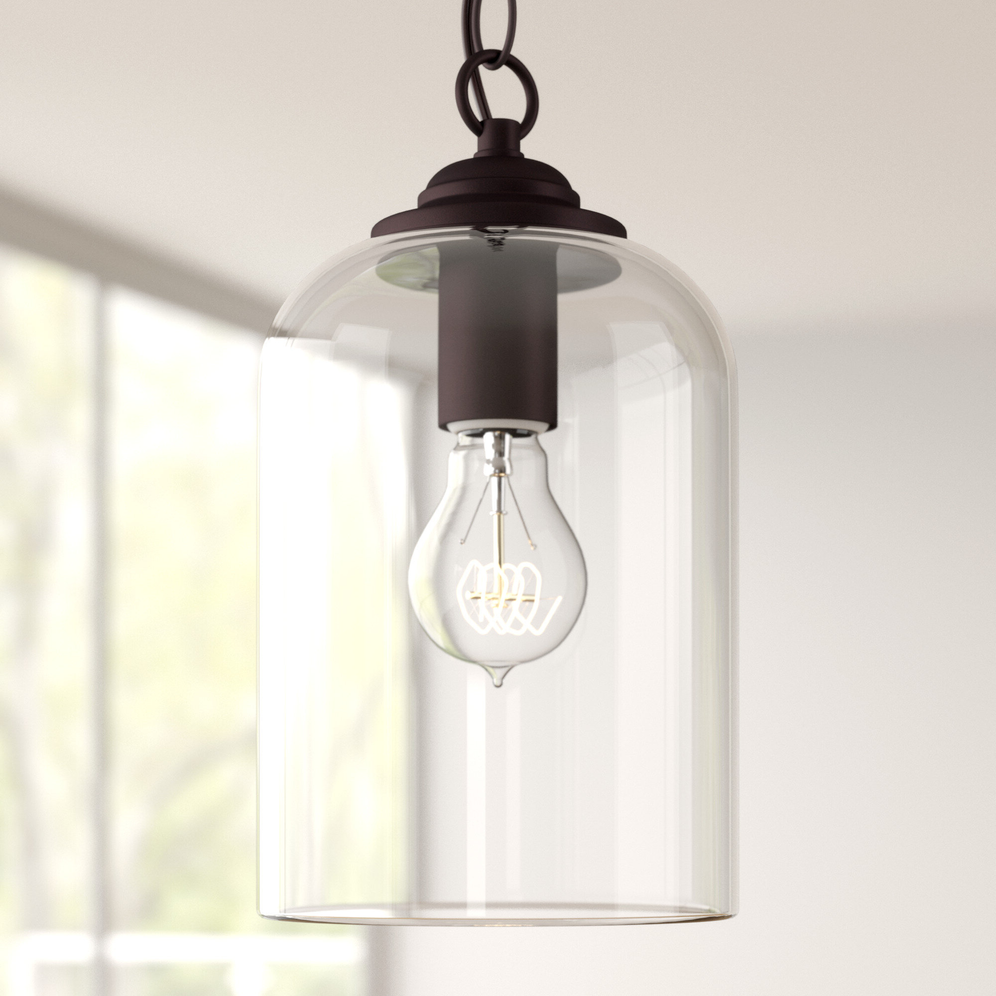 Most Recently Released Silber 1 Light Bell Pendant Regarding Wentzville 1 Light Single Bell Pendants (View 6 of 20)