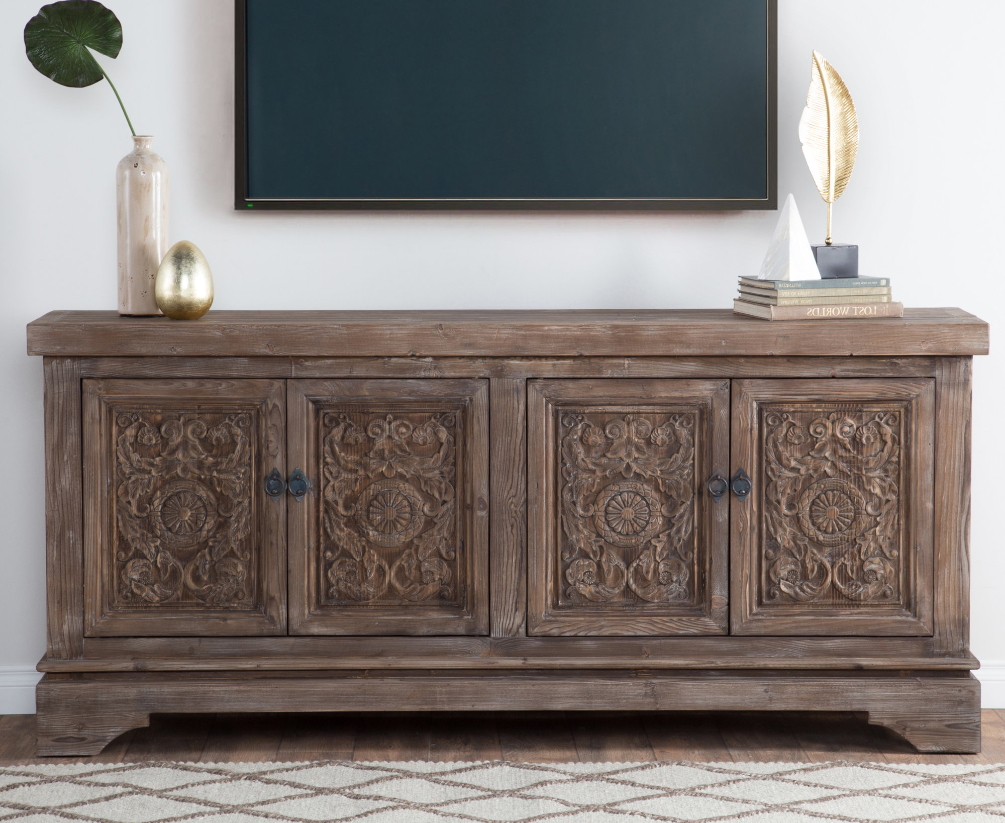 Most Recently Released Steinhatchee Reclaimed Pine 4 Door Sideboards With Details About Bungalow Rose Steinhatchee Reclaimed Pine 4 Door Sideboard (Gallery 3 of 20)