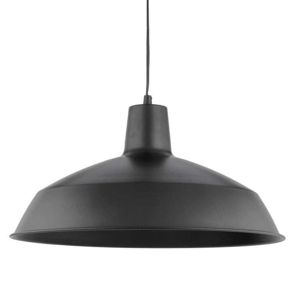 Most Recently Released Stetson 1 Light Bowl Pendants Inside Globe Electric Barnyard 1 Light 16 In. Industrial Warehouse (Gallery 18 of 20)