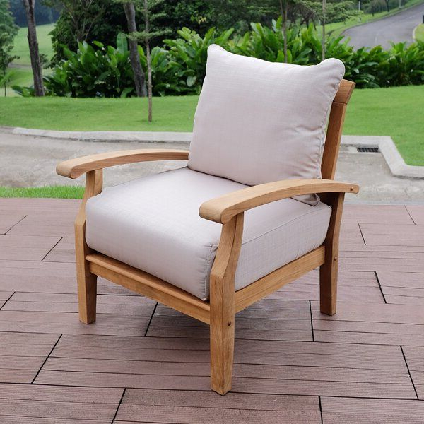Most Recently Released Summerton Teak Patio Chair With Cushions (Gallery 12 of 20)