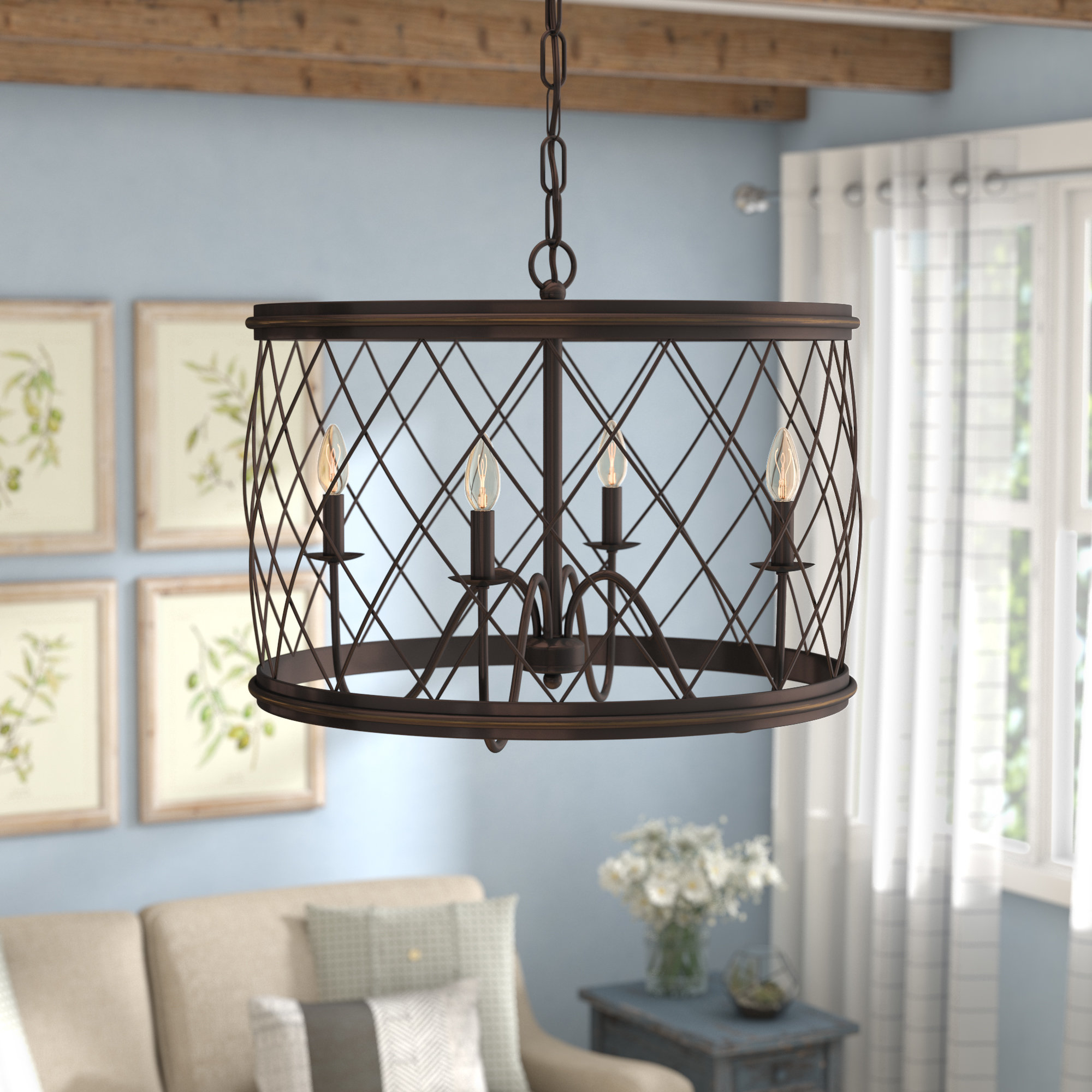 Most Recently Released Tadwick 3 Light Single Drum Chandeliers With Regard To Gabriel 4 Light Candle Style Chandelier (View 7 of 20)