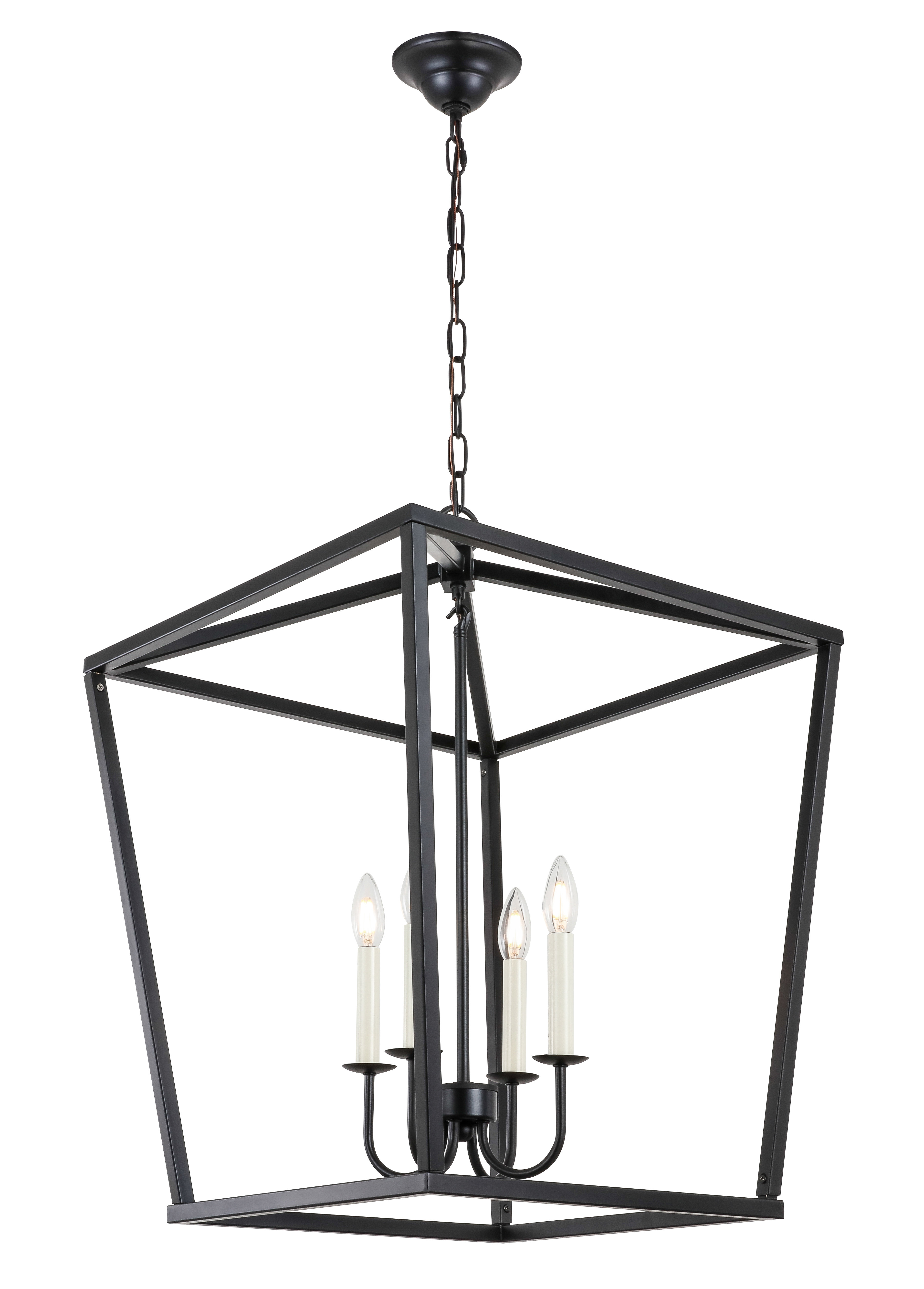 Most Recently Released Tiana 4 Light Geometric Chandeliers For Tanguay 4 Light Lantern Pendant (View 11 of 20)