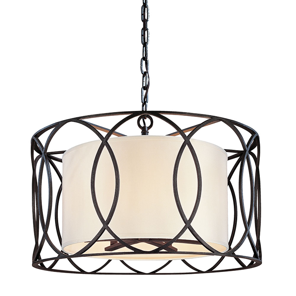 Most Recently Released Troy Lighting F1285Db In Buster 5 Light Drum Chandeliers (Gallery 20 of 20)