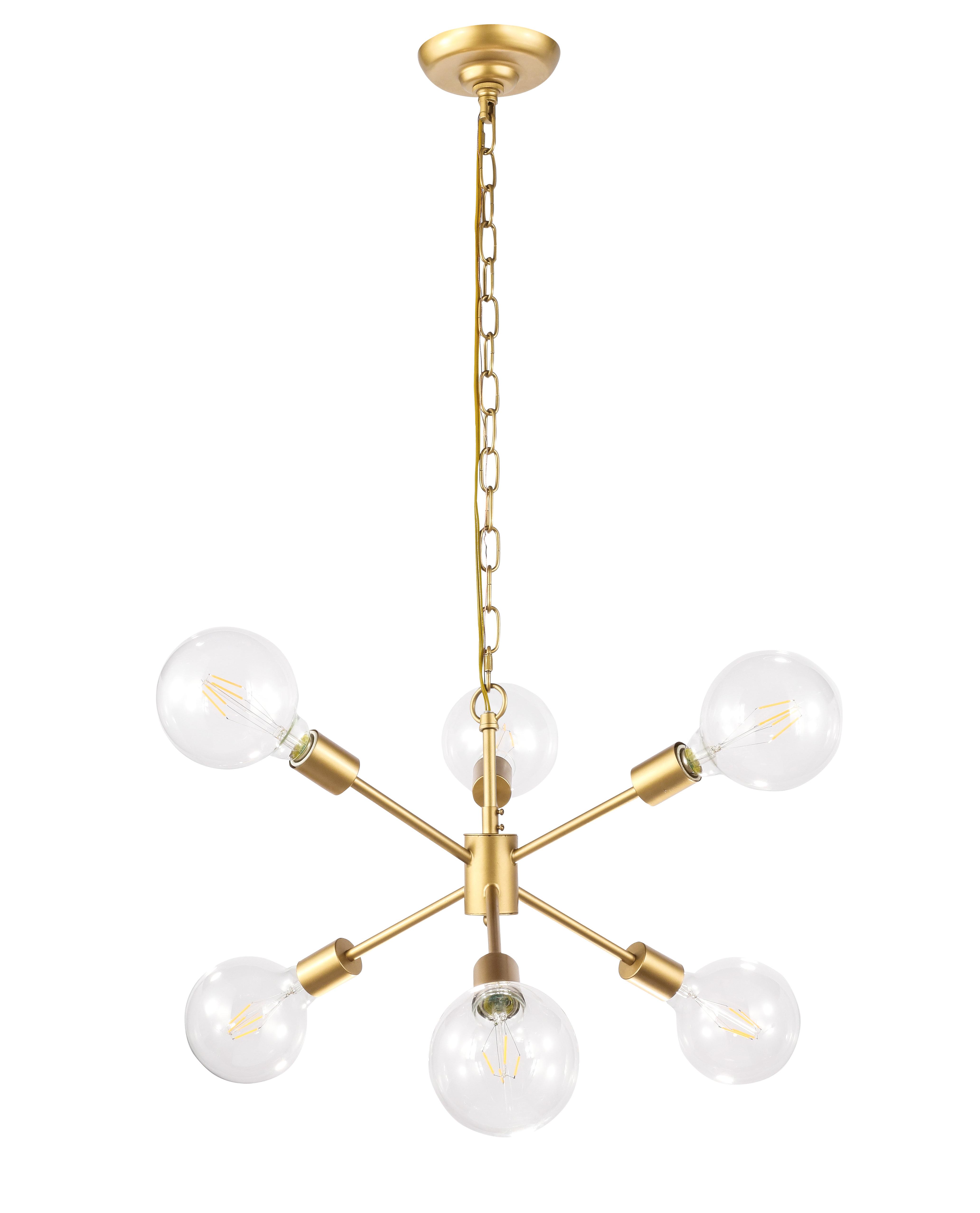 Most Recently Released Velva 6 Light Sputnik Chandelier Throughout Johanne 6 Light Sputnik Chandeliers (Gallery 9 of 20)