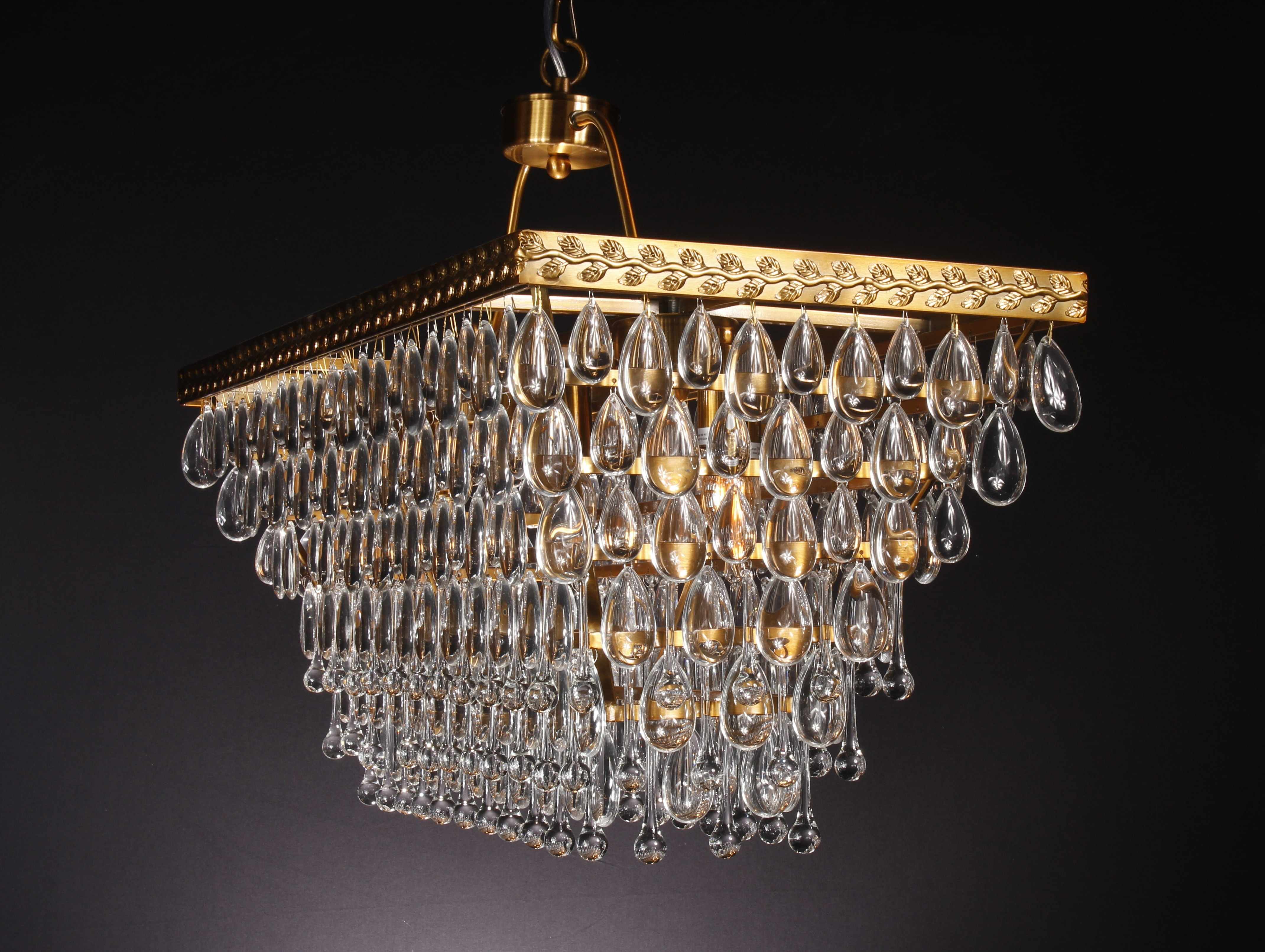 Most Recently Released Verdell 5 Light Crystal Chandeliers Regarding Calla Teardrop 5 Light Crystal Chandelier (View 10 of 20)