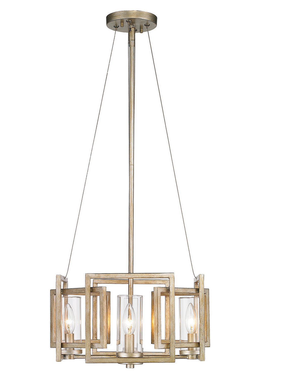 Most Recently Released Wightman Drum Chandeliers In Wightman 4 Light Geometric Chandelier (View 7 of 20)