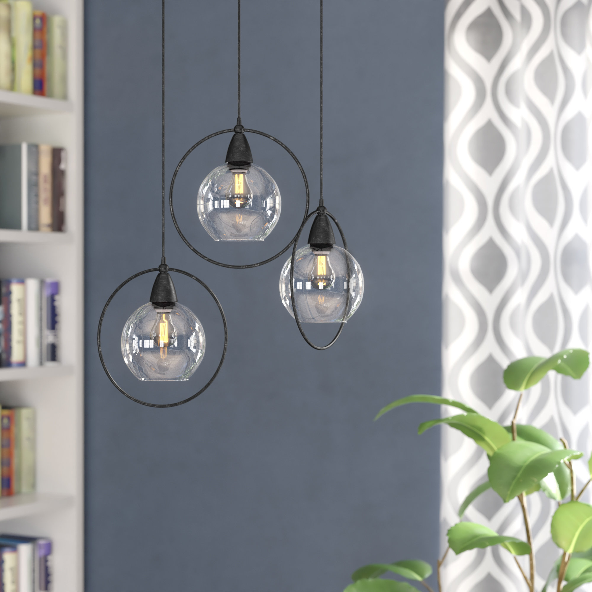 Most Recently Released Wrought Studio Mouton 3 Light Cluster Pendant Throughout Vernice 3 Light Cluster Bell Pendants (View 8 of 20)