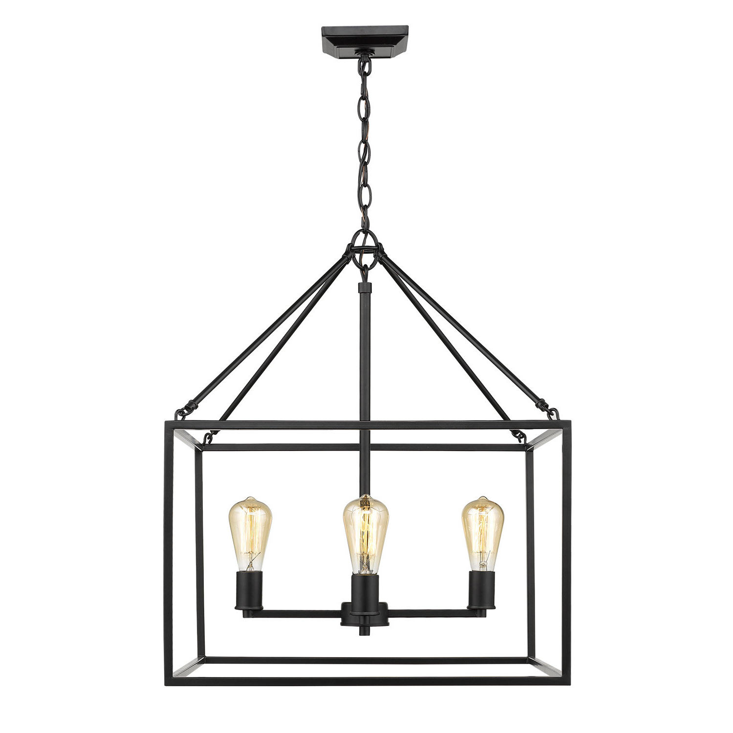 Featured Photo of 4 Light Lantern Square / Rectangle Pendants
