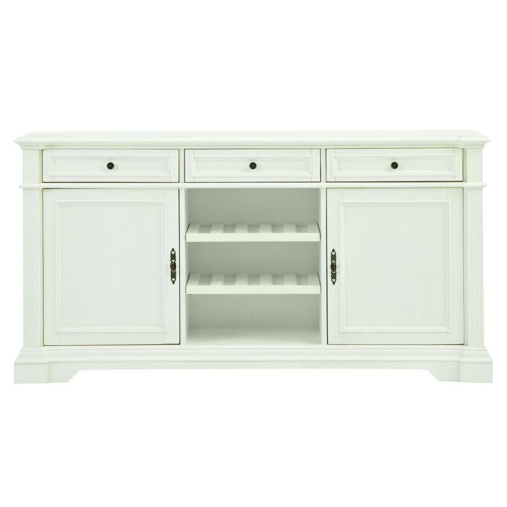Most Up To Date Amityville Sideboards Pertaining To Bufford Rubbed Ivory Buffet (Gallery 13 of 20)