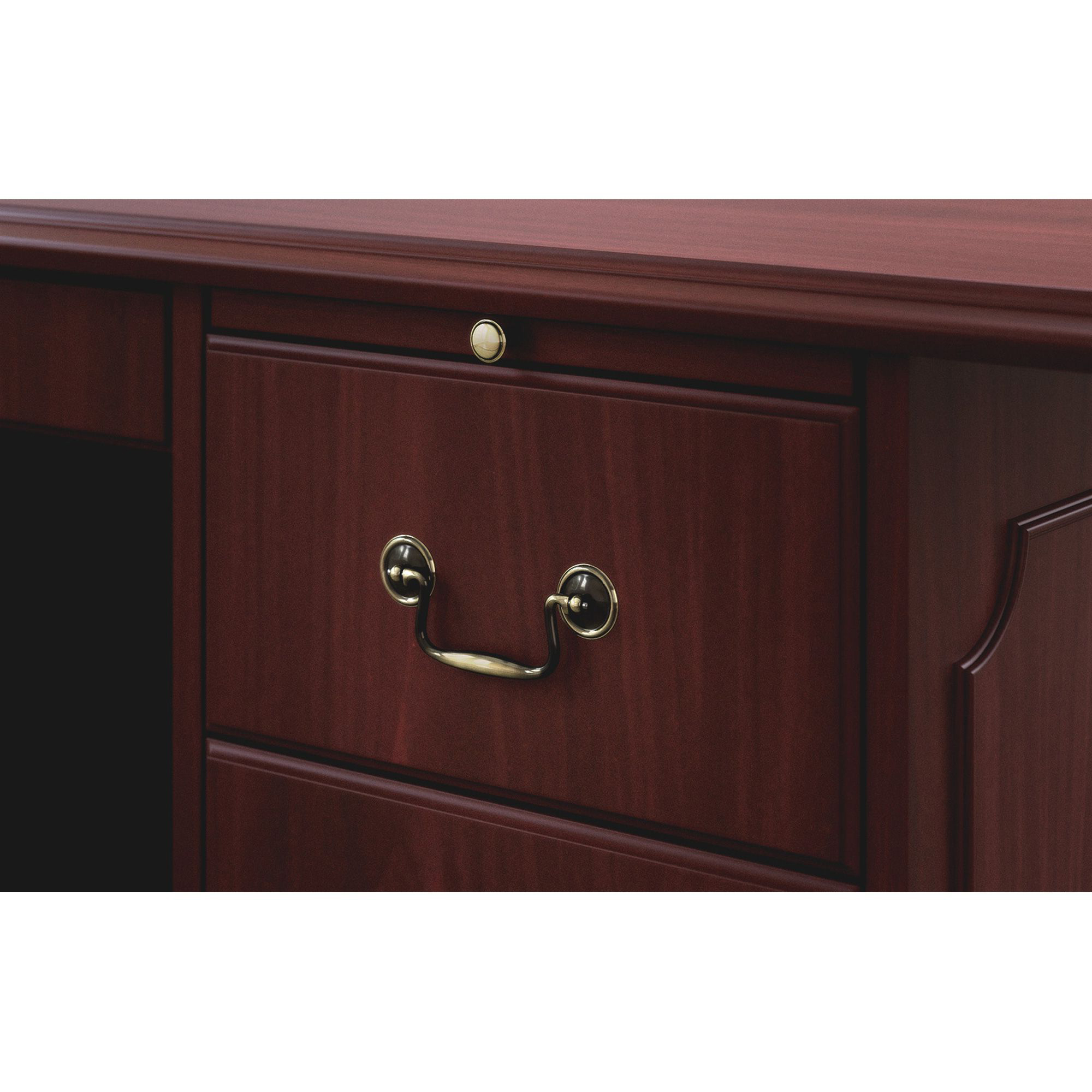 Most Up To Date Barr Credenzas Within Hon 94000 Series Double Pedestal Desk – Rectangle Top – (View 9 of 20)