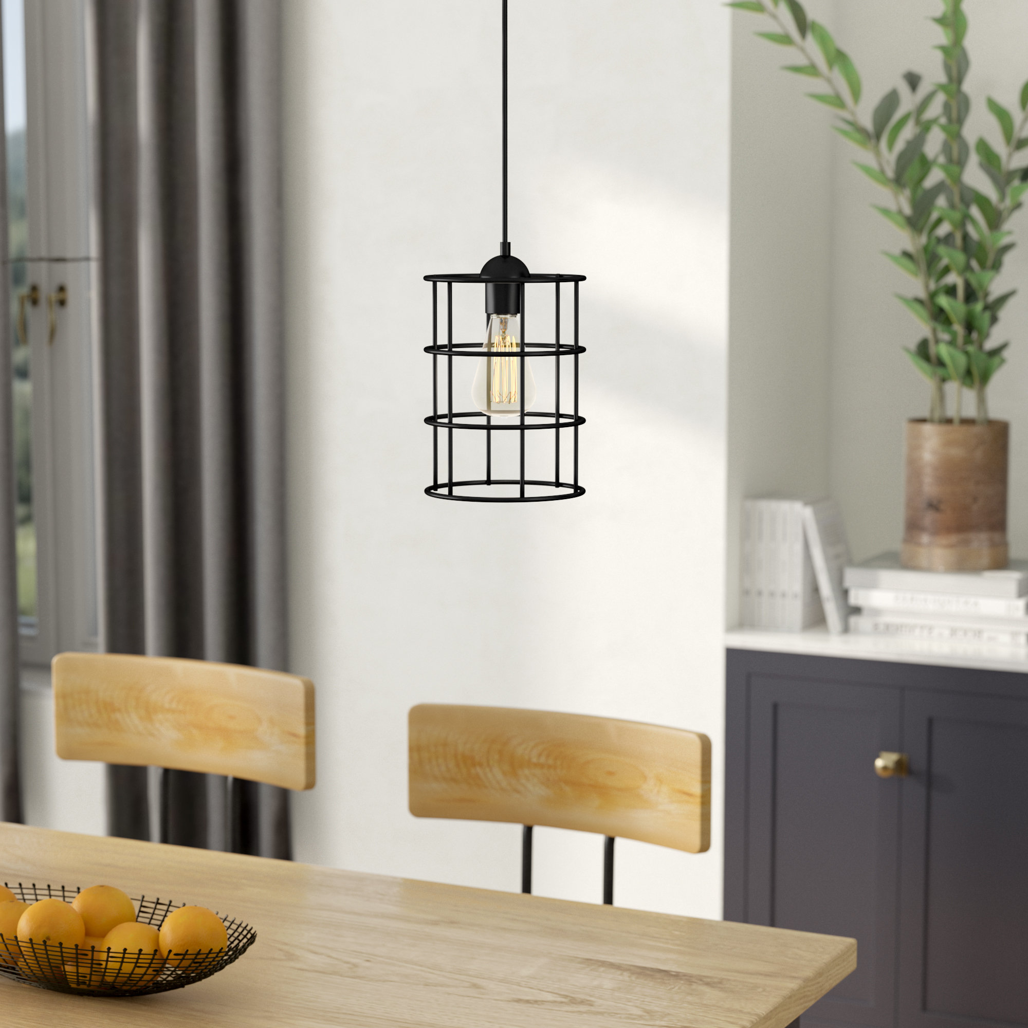 Most Up To Date Barrons 1 Light Cylinder Pendant Throughout Barrons 1 Light Single Cylinder Pendants (View 13 of 20)