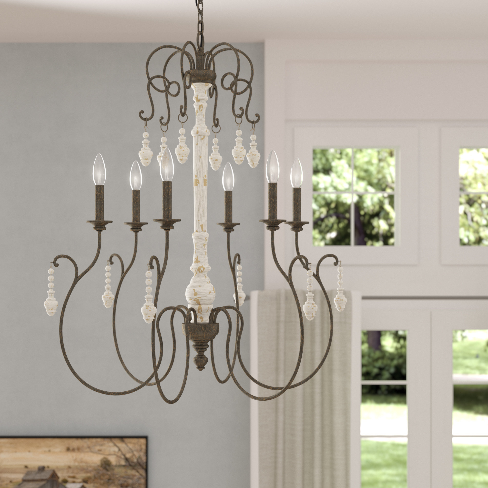 Most Up To Date Bouchette Traditional 6 Light Candle Style Chandeliers Regarding One Allium Way Kadyn 6 Light Candle Style Chandelier (Gallery 5 of 20)