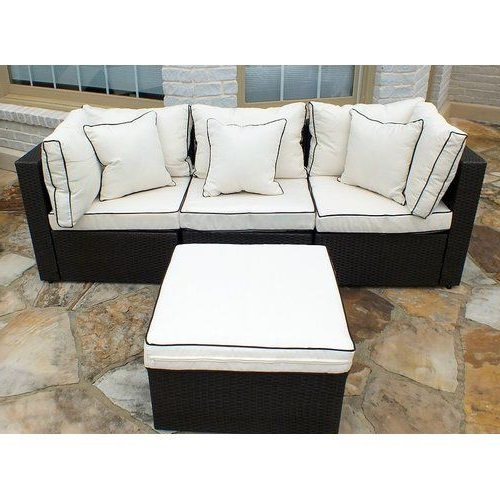 Most Up To Date Burruss Patio Sectional With Cushions (View 8 of 20)