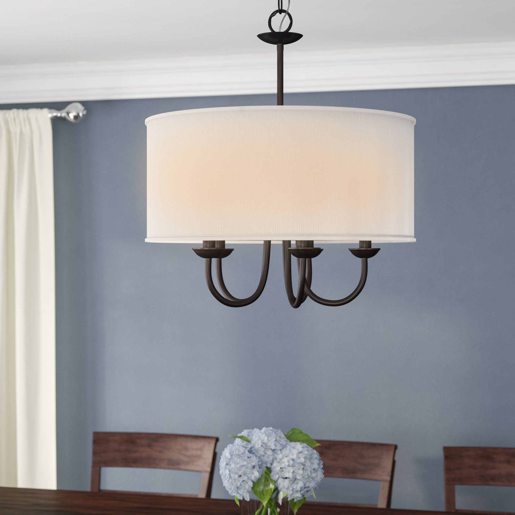 Most Up To Date Burton 5 Light Drum Chandeliers Pertaining To Sylvestre 5 Light Drum Chandelier (Gallery 3 of 20)