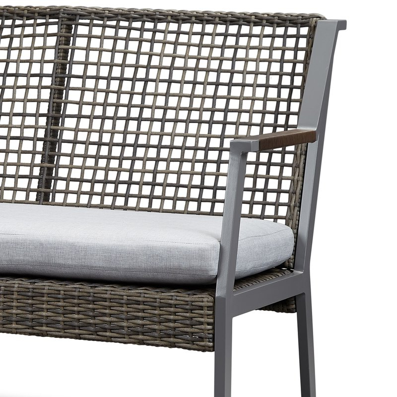 Most Up To Date Calvin Patio Loveseats With Cushions Throughout Calvin Patio Loveseat With Cushions (View 4 of 20)