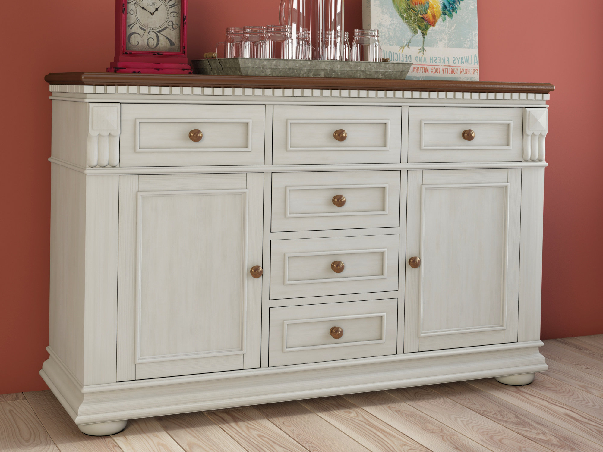 Most Up To Date Farmhouse & Rustic Darby Home Co Sideboards & Buffets For Phyllis Sideboards (View 8 of 20)