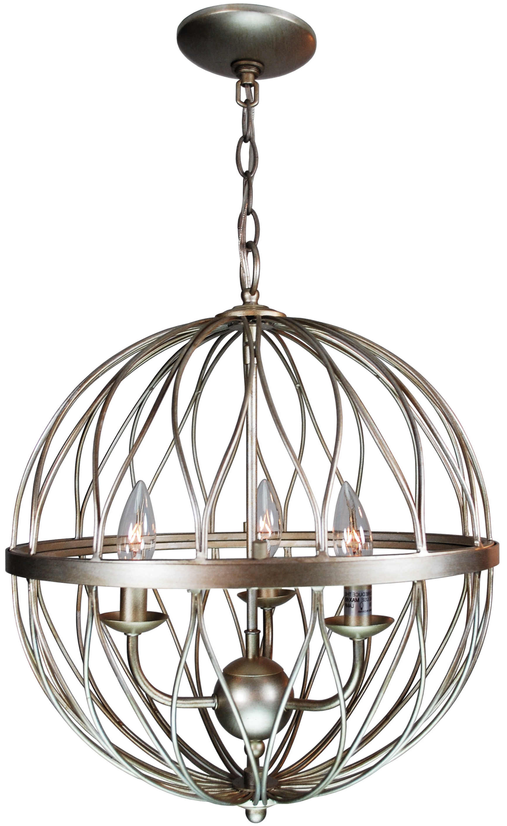 Most Up To Date Filipe Globe Chandeliers Throughout Brittain 3 Light Globe Chandelier (View 12 of 20)