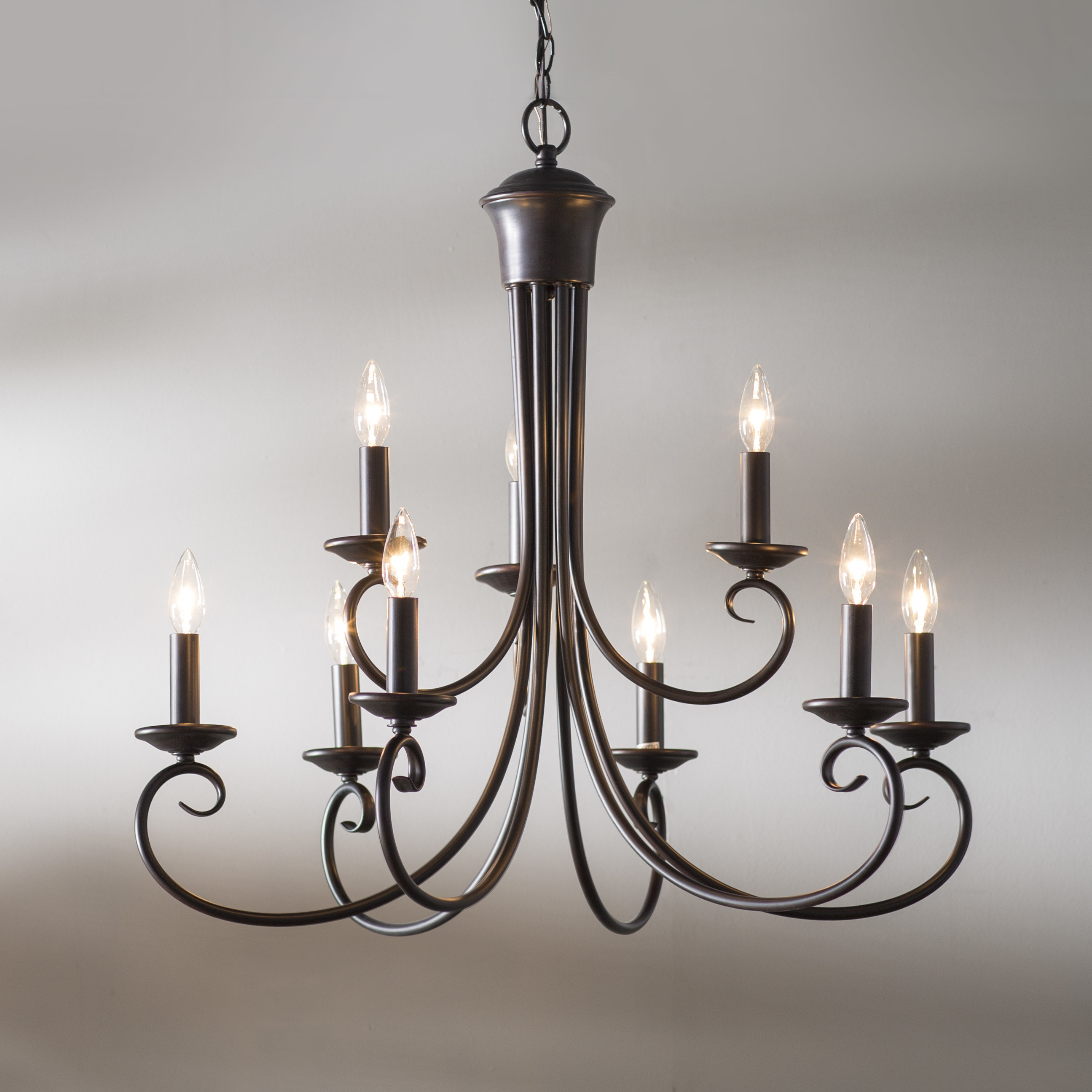 Most Up To Date Gaines 9 Light Candle Style Chandeliers For Kenedy 9 Light Candle Style Chandelier (Gallery 4 of 20)