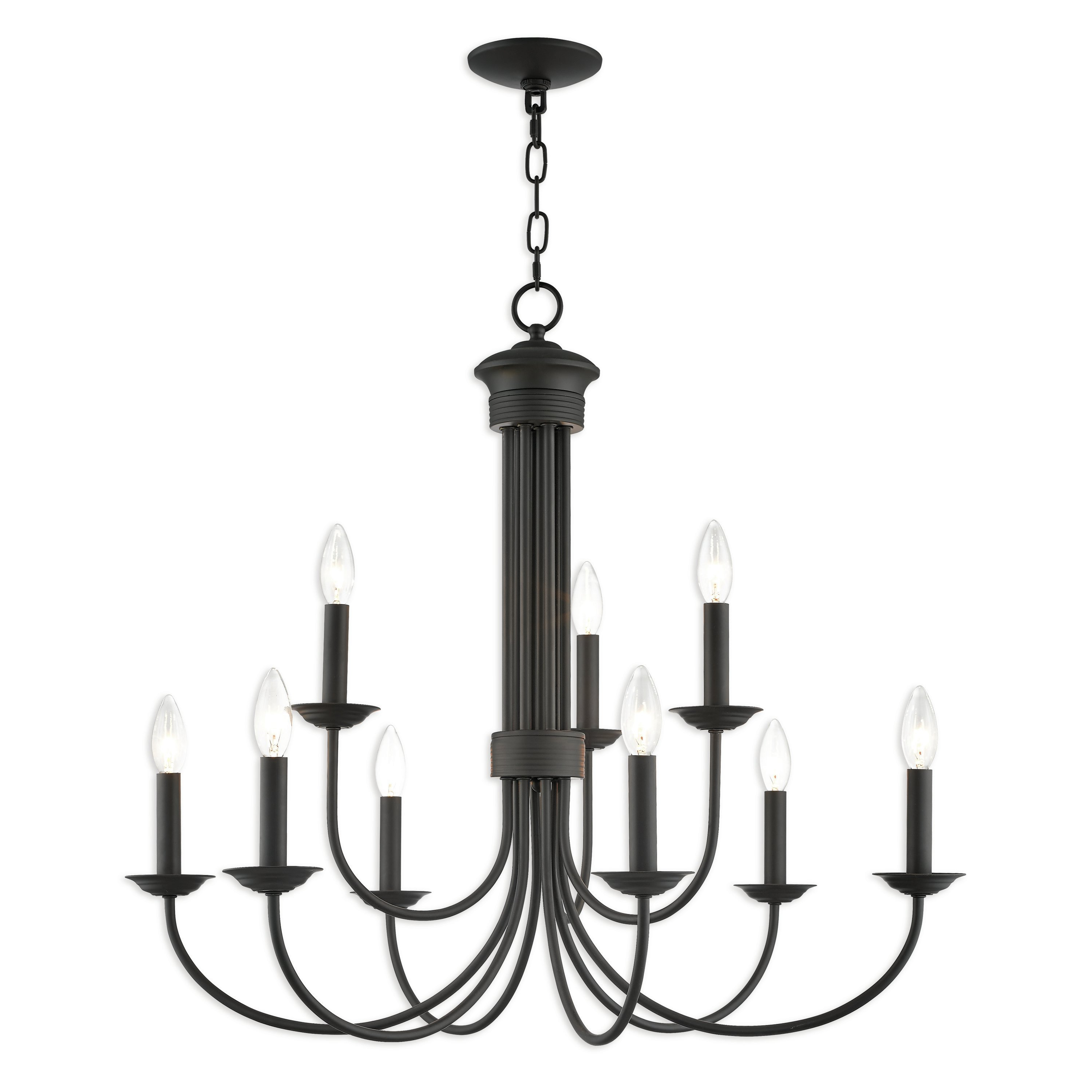 Most Up To Date Gaines 9 Light Candle Style Chandeliers Throughout Carruthers 9 Light Candle Style Chandelier (Gallery 10 of 20)