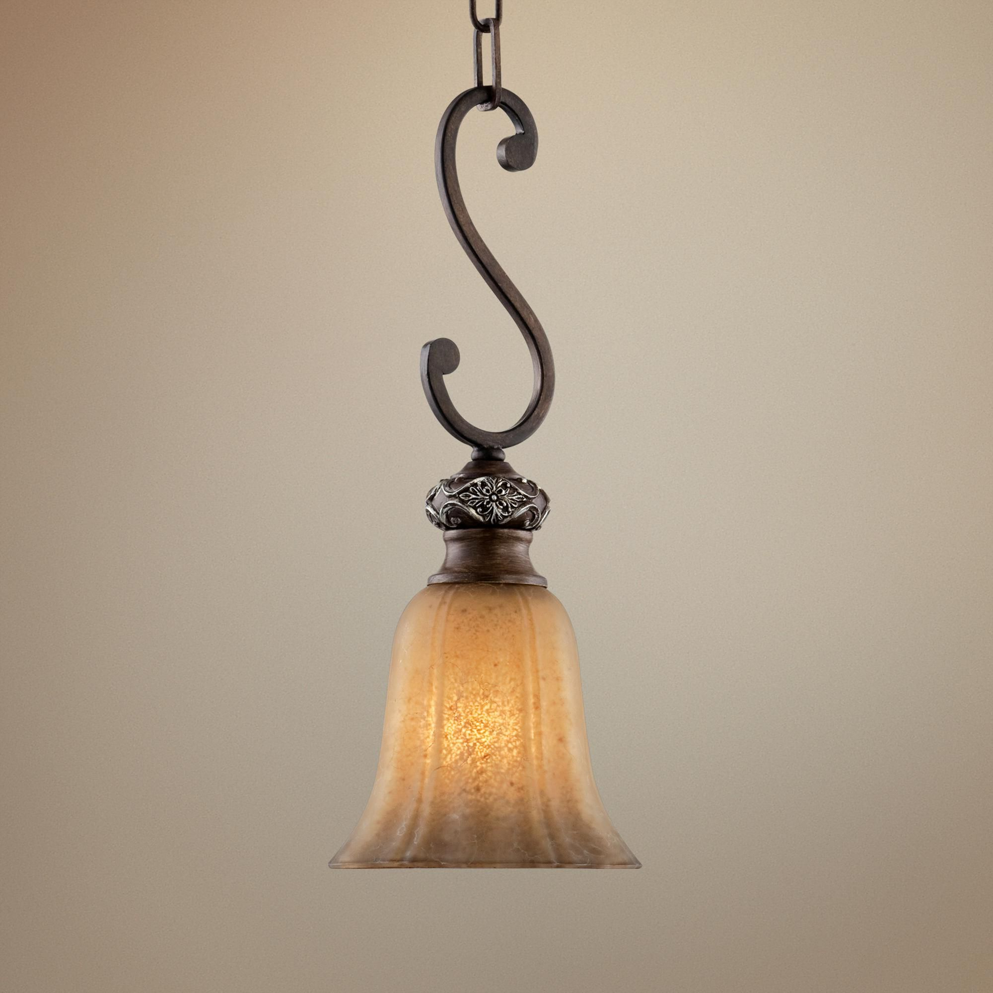 Most Up To Date Grullon Scroll 1 Light Single Bell Pendants With Regard To Kathy Ireland Sterling Estate Mini Pendant Light – #r (View 14 of 20)
