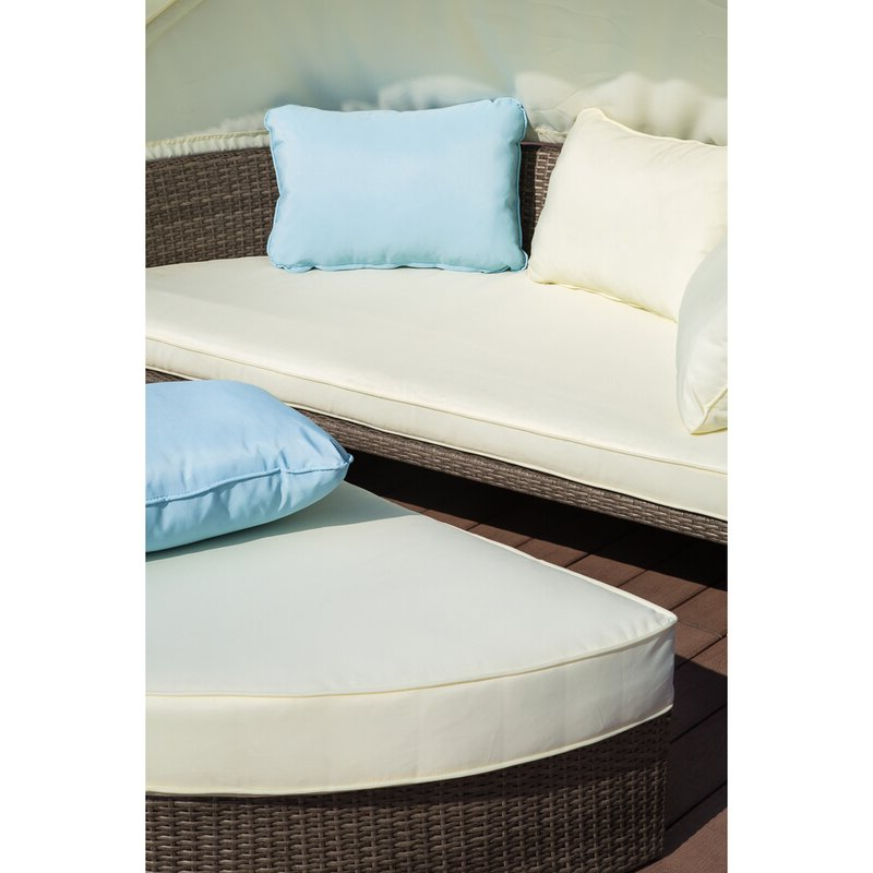 Most Up To Date Harlow Patio Daybeds With Cushions Within Harlow Patio Daybed With Cushions (View 7 of 20)