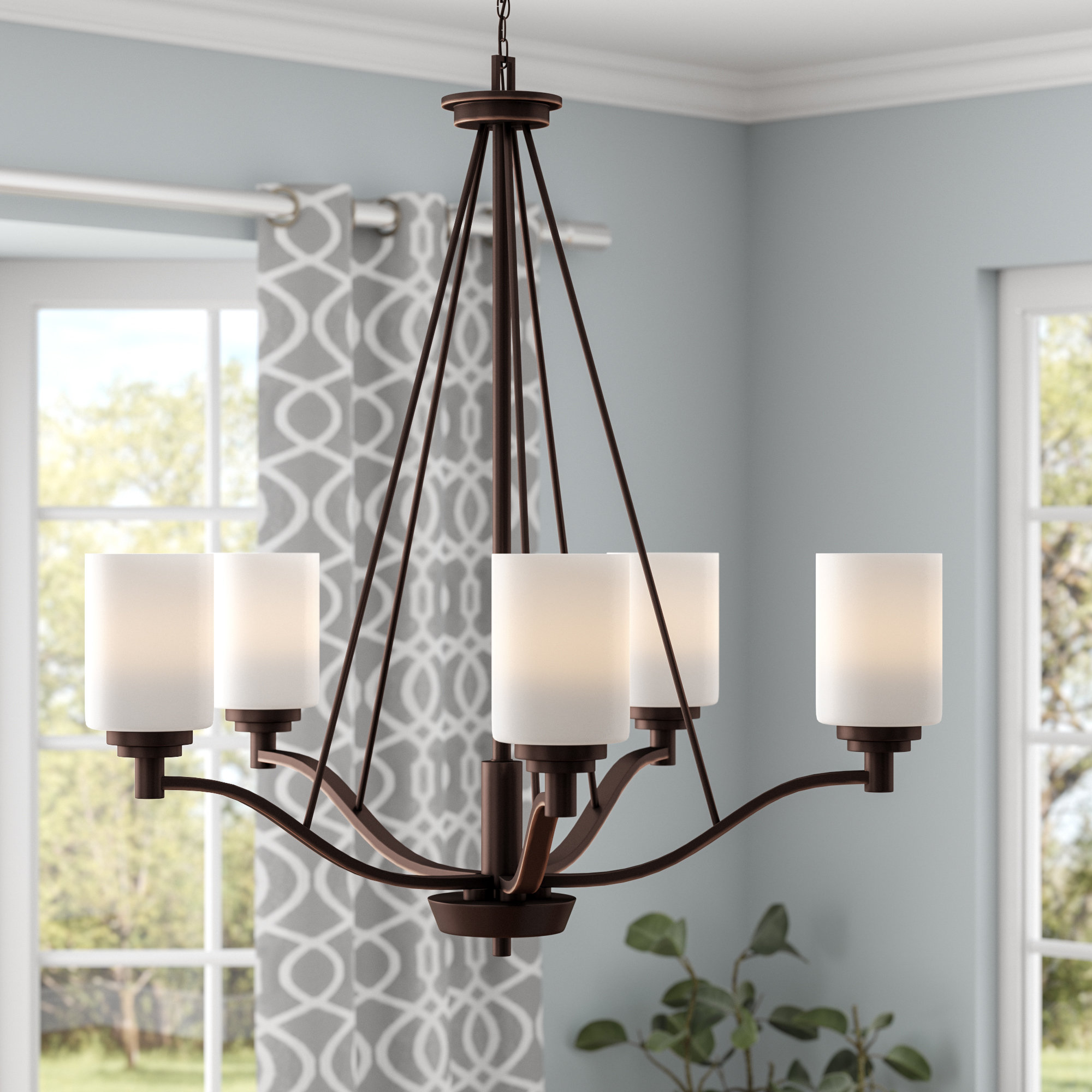 Most Up To Date Hester 5 Light Shaded Chandelier For Newent 5 Light Shaded Chandeliers (View 9 of 20)