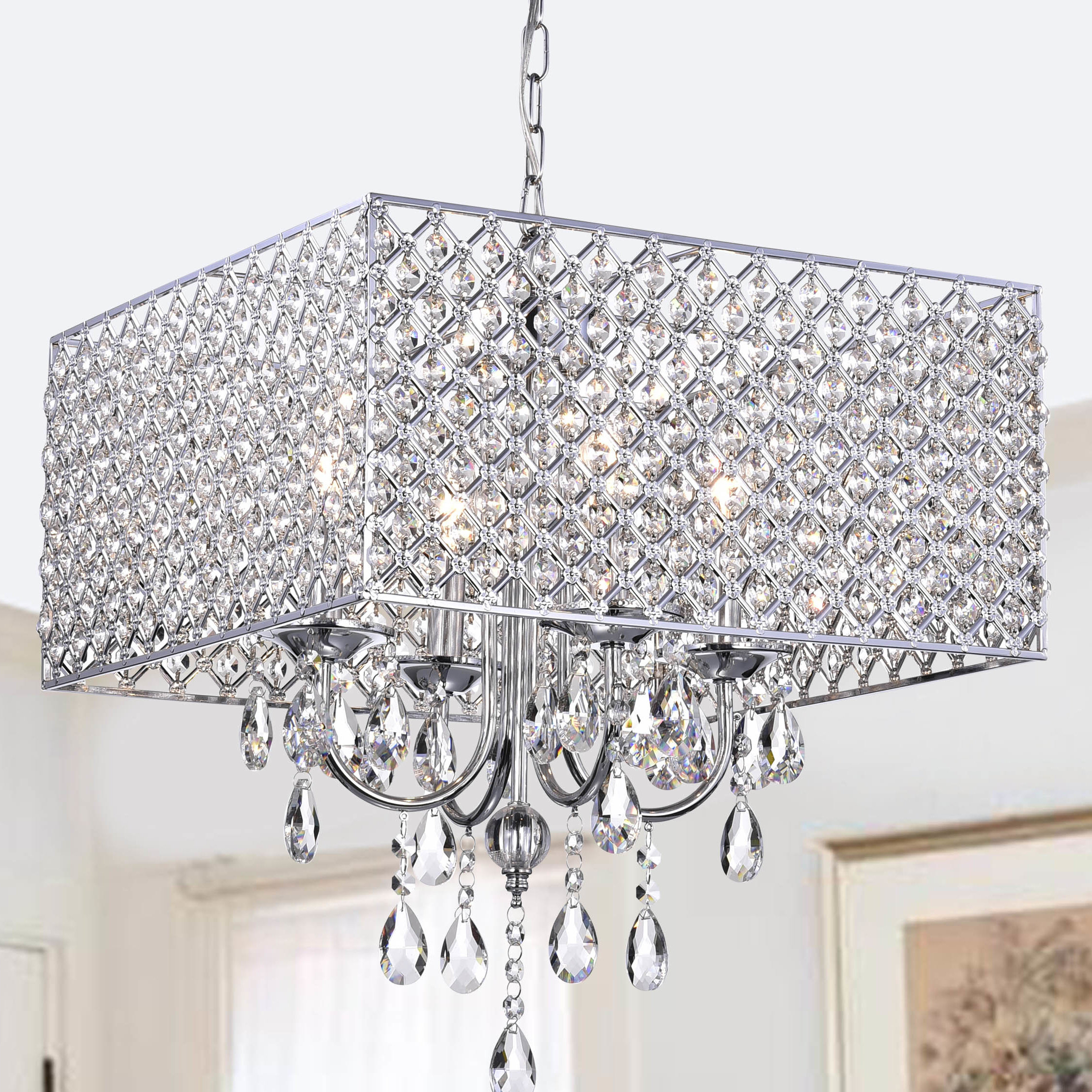 Most Up To Date Holford 4 Light Crystal Chandelier In Aldgate 4 Light Crystal Chandeliers (View 15 of 20)