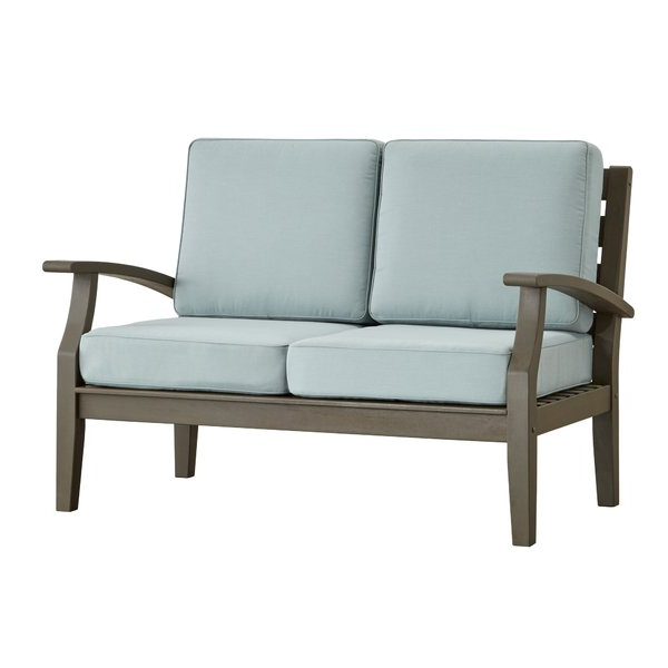 Most Up To Date Hursey Loveseat Intended For Summerton Teak Loveseats With Cushions (View 13 of 20)